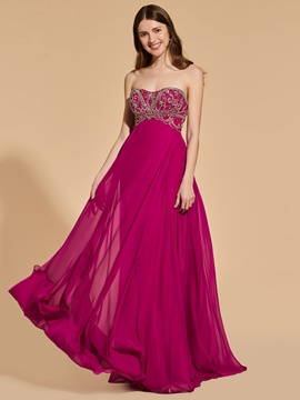 Ericdress A Line Sweetheart Beaded Long Prom Dress