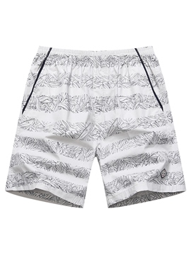Ericdress Plant Stripe Swimwear Men's Swim Trunks Beach Board Shorts
