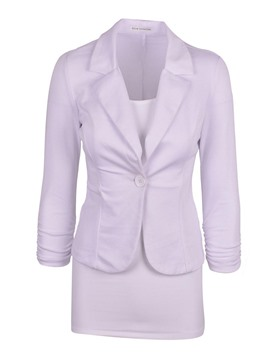 Ericdress Slim One Button Double-Layer Blazer