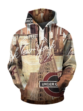 Ericdress Tiger Architecture Number Pullover Men's Hoodies