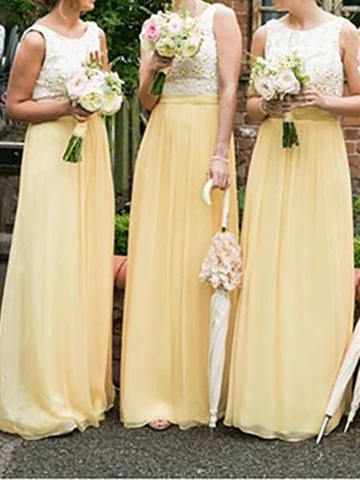 Ericdress Appliques A-Line Long Bridesmaid Dress 2019