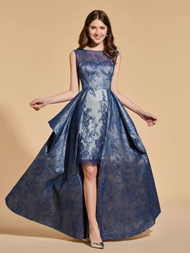 Ericdress A Line Asymmetry High Low Backless Lace Prom Dress
