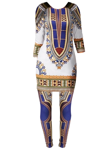 Ericdress Dashiki Pullover and Leggings Women's Suit