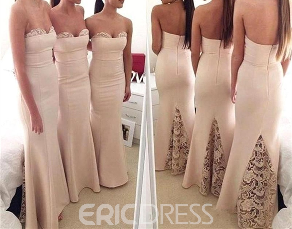 Ericdress Sweetheart Sheath Lace Bridesmaid Dress