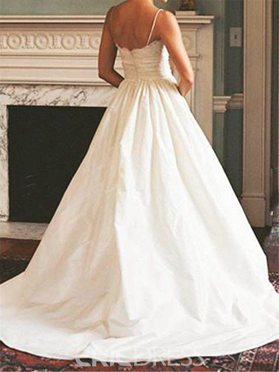 Ericdress Spaghetti Straps Lace A Line Wedding Dress