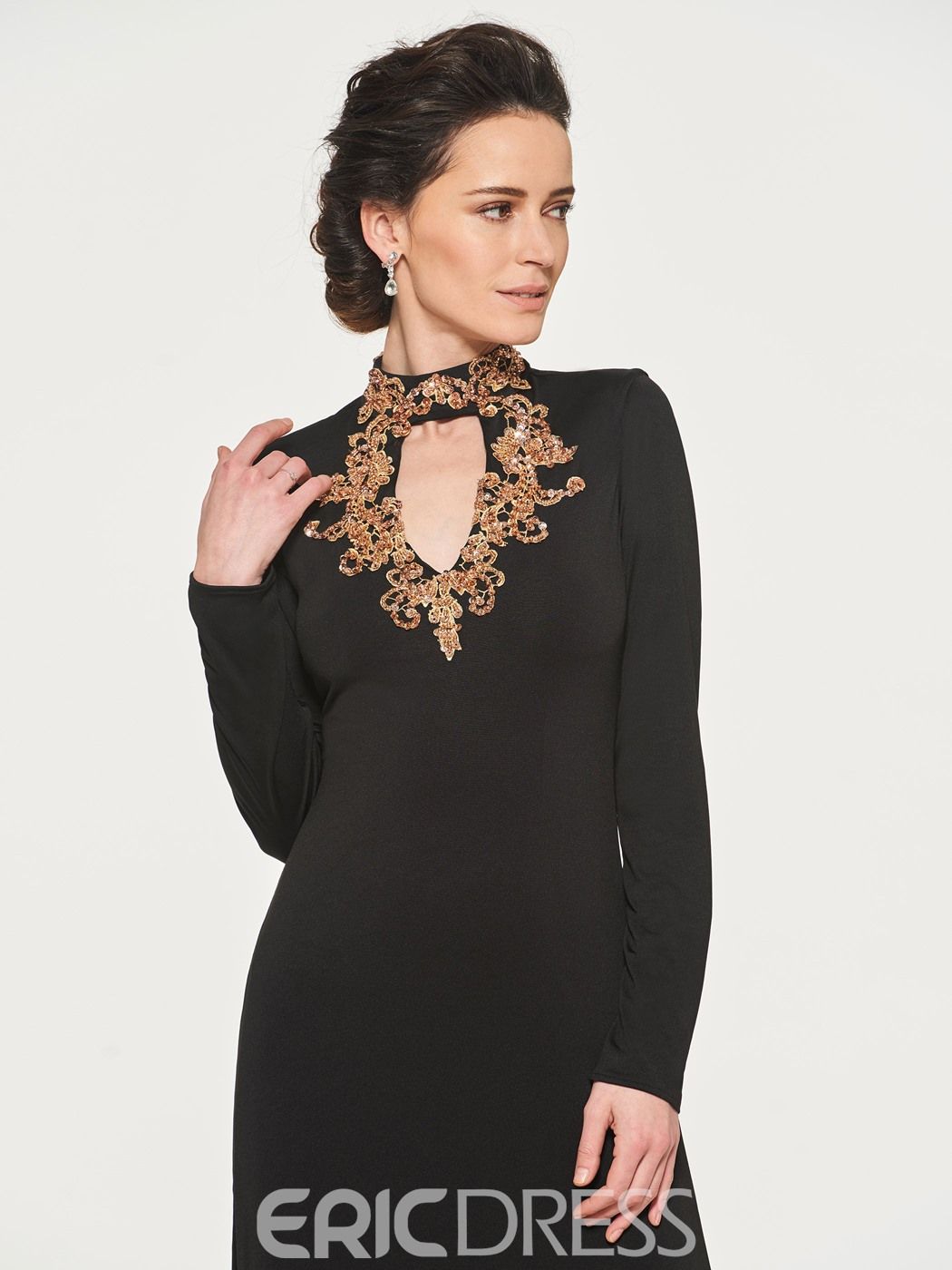 Ericdress Spandex Sequins Long Sleeves Mother of the Bride Dress
