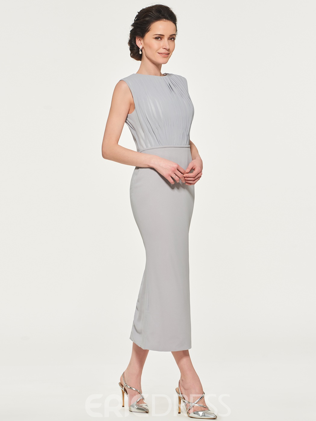 Ericdress Sheath Pleats Tea Length Mother of the Bride Dress