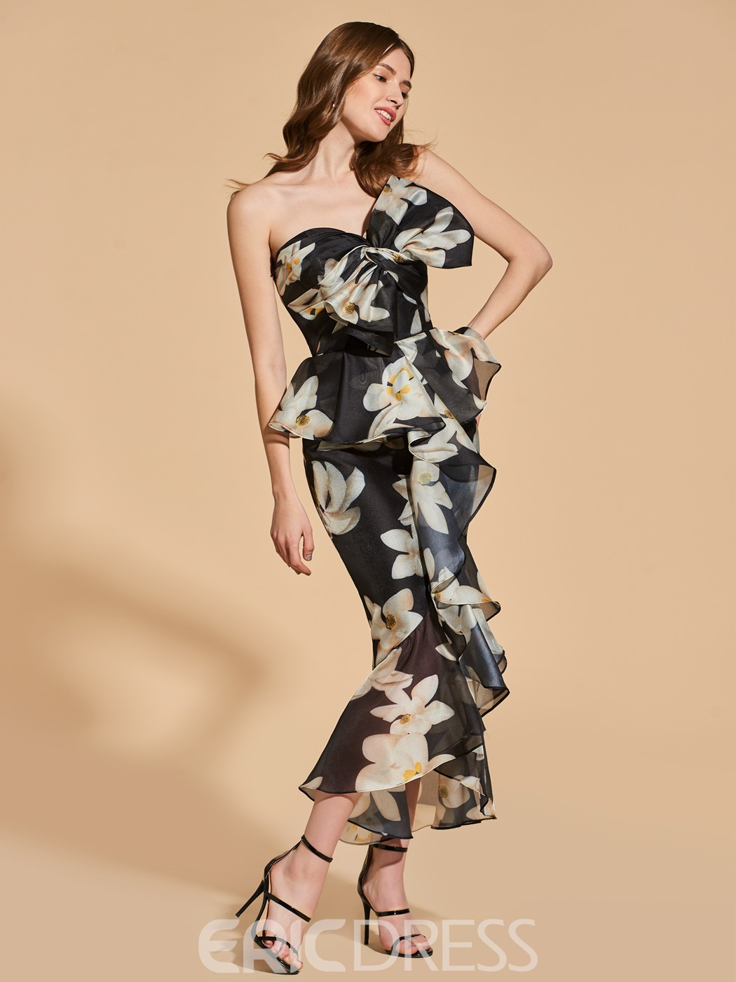eac90afcab9 Ericdress Sheath Floral Print Mermaid Bodycon Homecoming Dress With  Bowknot(13163063)