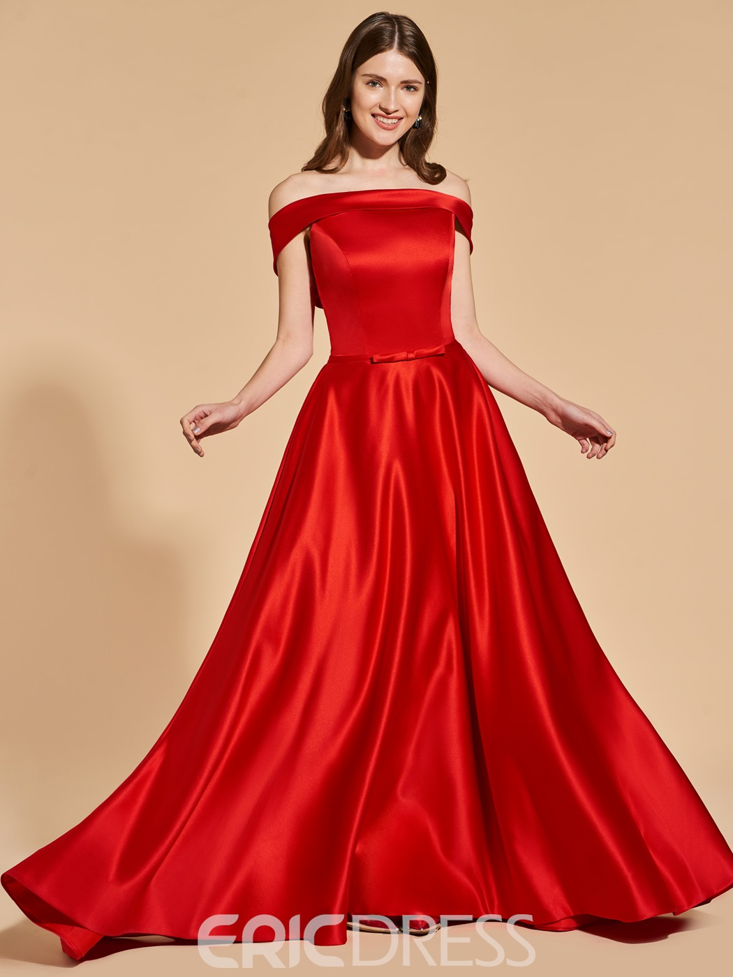 Girl Chunky Red Prom Dresses 2018