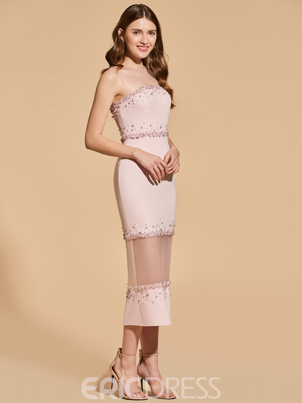 Ericdress Sheath Short Bodycon Homecoming Dress With Beadings