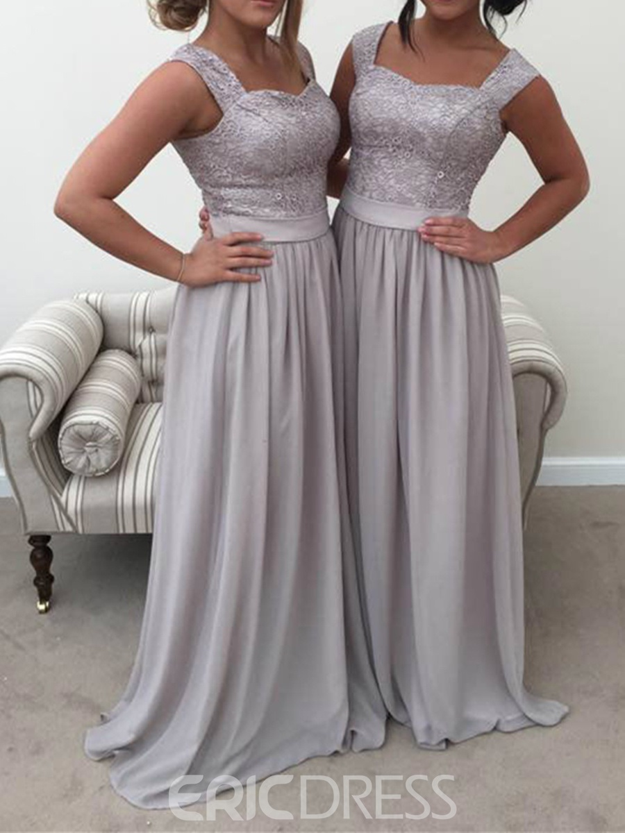 Ericdress A-Line Straps Lace Bridesmaid Dress