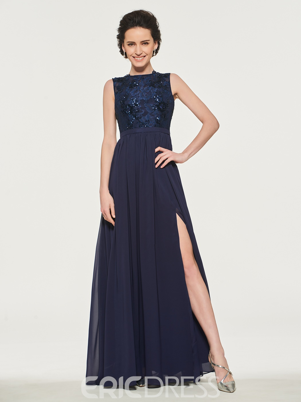 Ericdress Sequins Split-Front Mother Of The Bride Dress