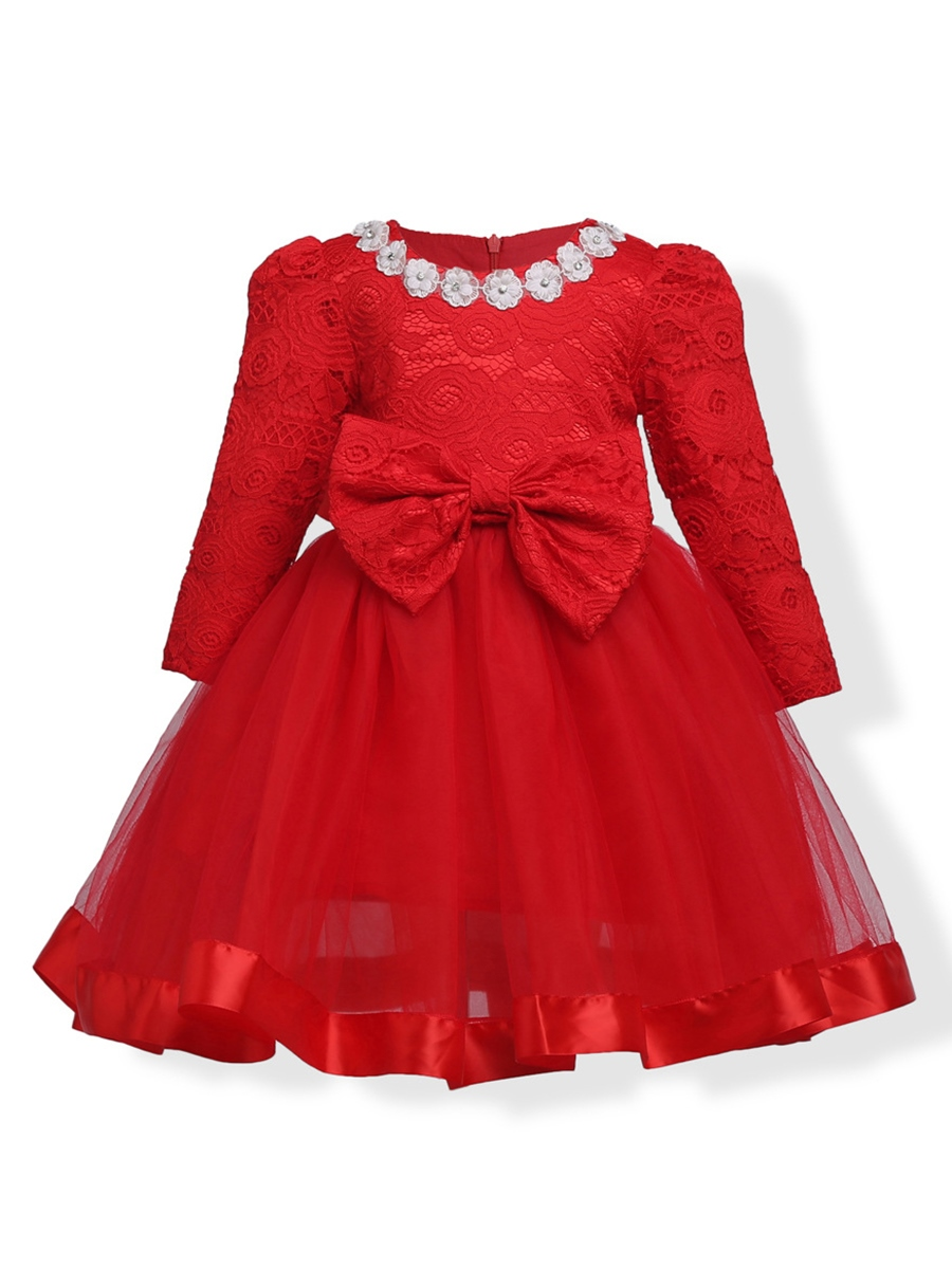 Ericdress Applique Lace Patchwork Girl's Ball Gown Dress