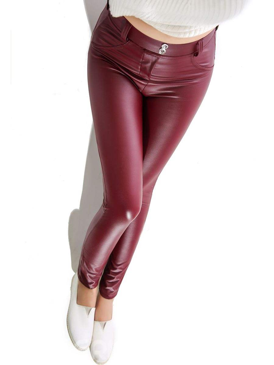Ericdress PU Stretchy Women's Leggings