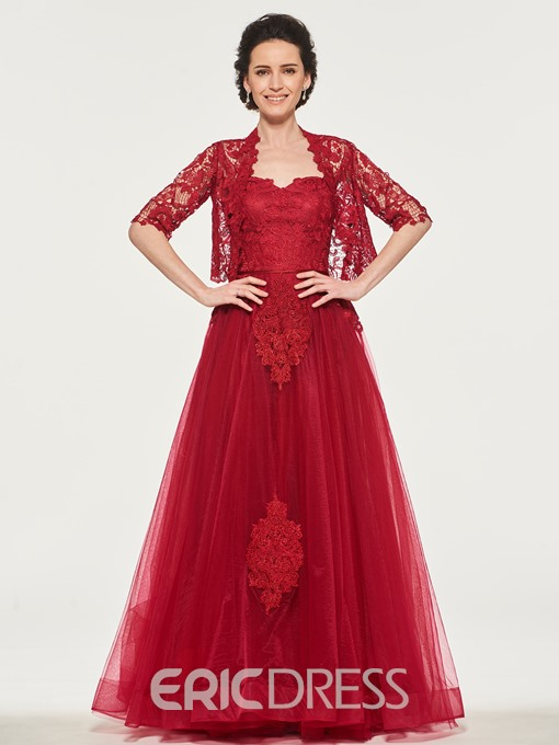 Ericdress Applique Lace Mother Of The Bride With Half Sleeve