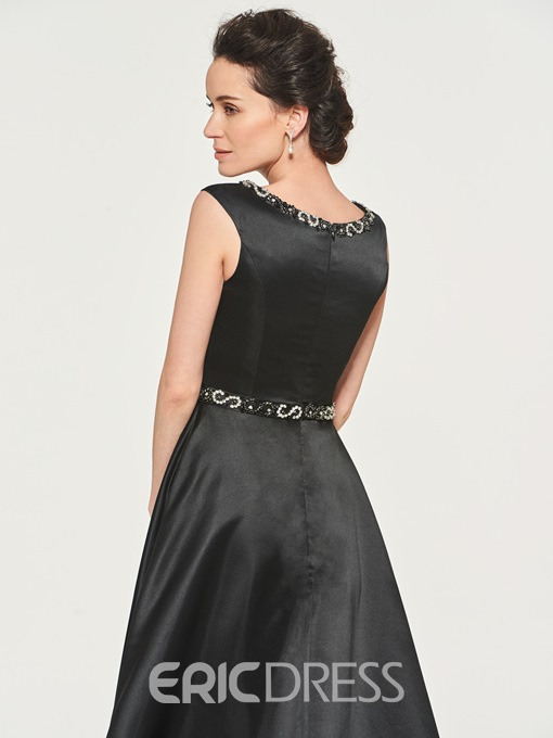 Ericdress A Line Beaded Black Mother Of The Bride Dress