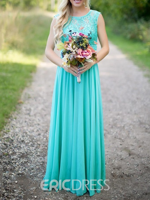 Ericdress Sequins Lace Long Bridesmaid Dress