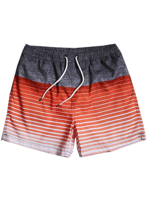 Ericdress Mens Straight Knee Length Beach Shorts