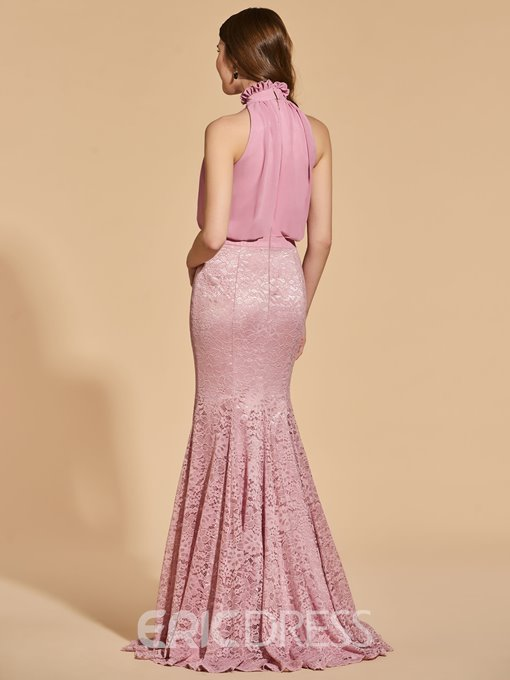 Ericdress High Neck Lace Long Mermaid Prom Dress