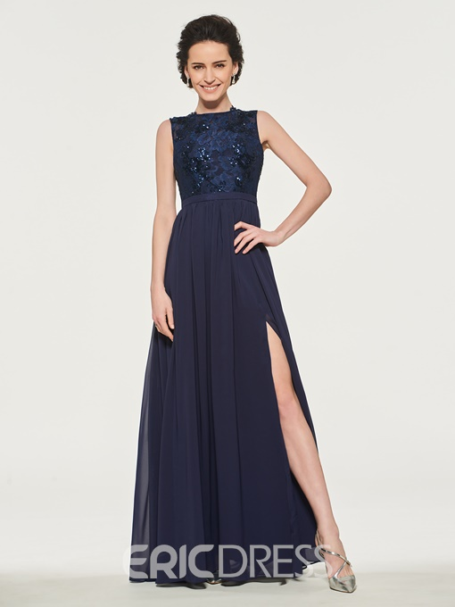 Ericdress A Line Split-Front Mother Of The Bride Dress