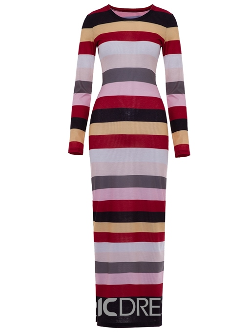 Ericdress Round Neck Long Sleeve Ankle-Length Pencil Pullover Dress