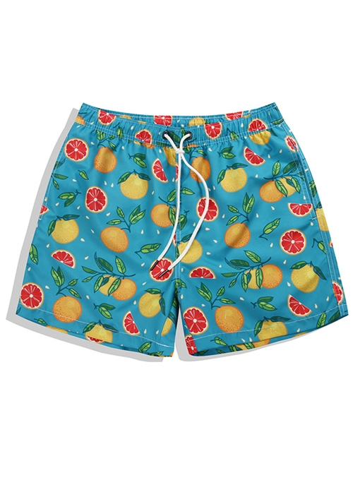 Ericdress Straight Knee Length Mens Beach Shorts