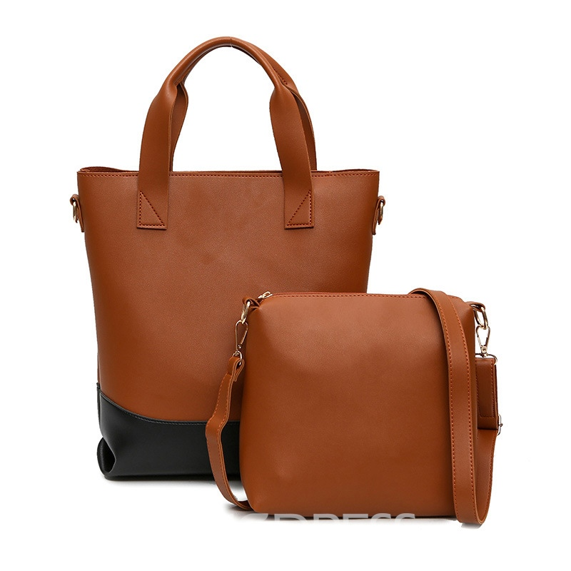 Ericdress Solid Color Women Bag Set