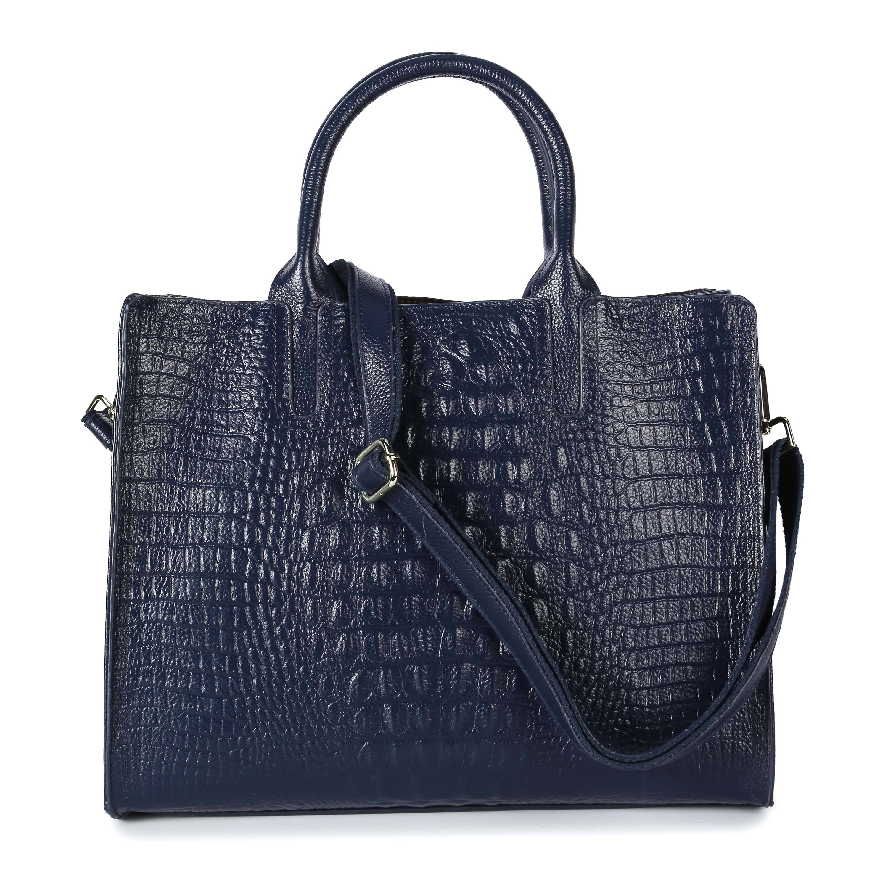 Ericdress Plain Leather European Square Tote Bags