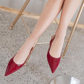 Ericdress Pointed Toe Plain Low-Cut Women's Flats