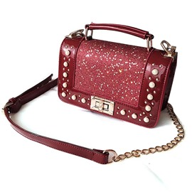 Ericdress Sequins Pearls Decoration Crossbody Bag