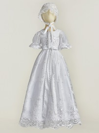 Ericdress Stunning Bonnet Beading Christening Gown for Gilrs Baptism