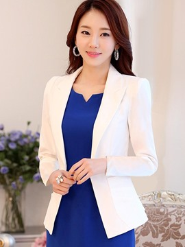 Ericdress Slim Single Button Plain Blazer