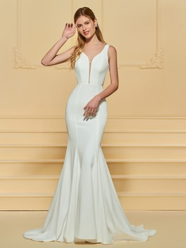 Ericdress Straps Mermaid Backless Wedding Dress