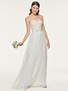 Ericdress Sweetheart Appliques A Line Bridesmaid Dress