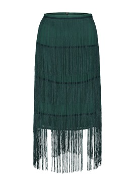Ericdress A-Line Tassel Women's Skirt