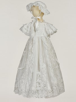 Ericdress Lace Long Christening Gown for Baptism Girls