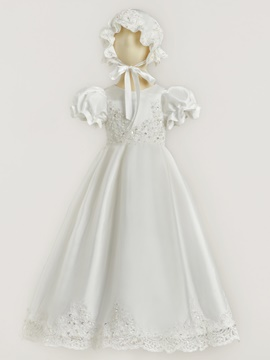 Ericdress Short Sleeves Sequins Appliques Christening Dress