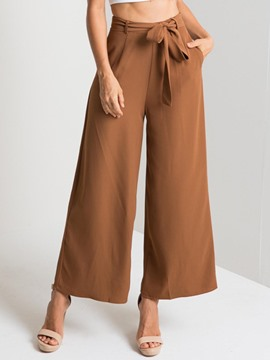 Ericdress Loose Wide Leg Bowknot Women's Pants