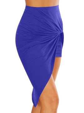 Ericdress Asymmetric Pleated Women's Skirt