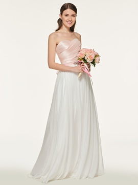 Ericdress Sweetheart Long A Line Bridesmaid Dress