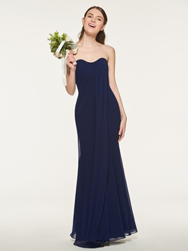 Ericdress Sweetheart Neckline Sheath Long Bridesmaid Dress