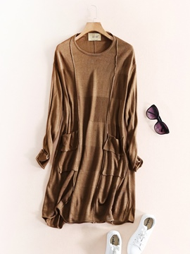 Ericdress Long Sleeve Soft Knit Women's Day Dress