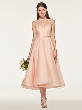 Ericdress Straps Tea Length Bridesmaid Dress