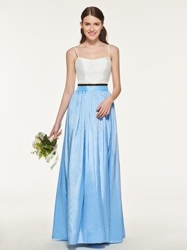 Ericdress Spaghetti Straps A Line Taffeta Bridesmaid Dress