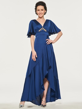 Ericdress V-Neck A-Line High Low Mother of the Bride Dress