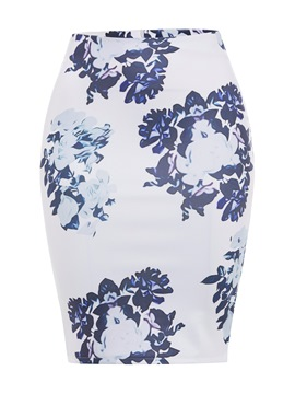 Ericdress Floral Print Bodycon Women's Skirt