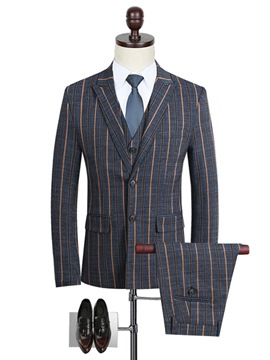 Ericdress Men's Vertical Stripe Casual Suit