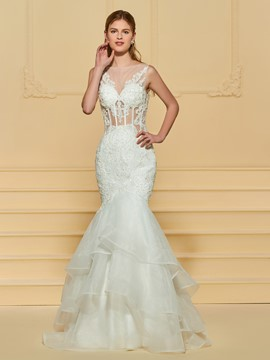 Ericdress Mermaid Appliques Wedding Dress
