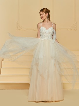 Ericdress A Line Tulle Color Wedding Dress