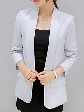 Ericdress Plain Mid-Length OL Blazer